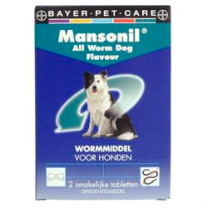 Mansonil all worm Dog flavour | Mandapotheek.nl