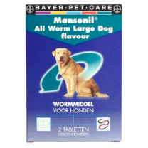 Mansonil all worm large dog flavour | Mandapotheek.nl
